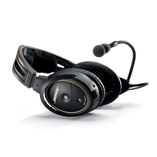 Bose A20 Aviation Headset (Battery-powered w/Bluetooth, Electret mic, Straight cord, Twin plug) (Discontinued by (Bose Aviation Headset)