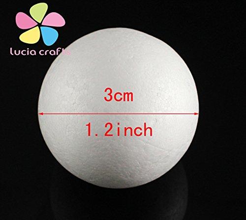 9cm/15cm White Modelling Polystyrene Styrofoam Foam Ball Spheres For New DIY Crafts Supplies 18030732 ()