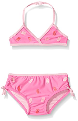 Tommy Bahama Girls' Infant Pineapple Two Piece Bikini Swimsuit, Pink, 12 Months