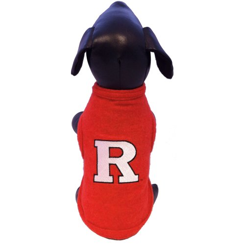 NCAA Rutgers Scarlet Knights Polar Fleece Dog Sweatshirt, Small