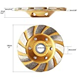 4 Inch Concrete Turbo Diamond Grinding Cup Wheel 12 Segs Heavy Duty Angle Grinder Wheels for Angle Grinder