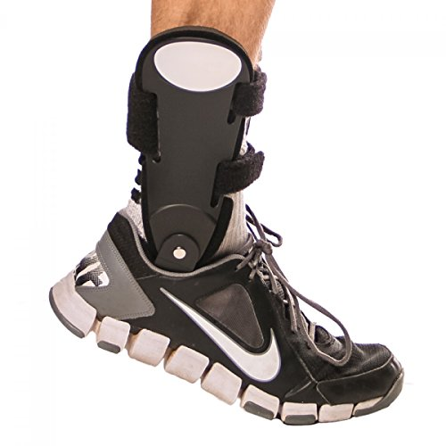 BraceAbility Rigid Hinged Ankle Stabilizer M Right product image