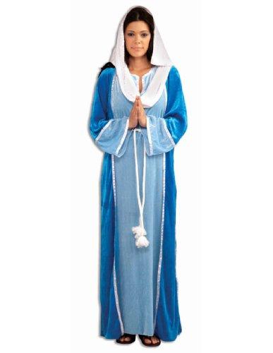 Forum Novelties Women's Deluxe Biblical Virgin Mary Costume, Blue, (Mary Christmas Costume)