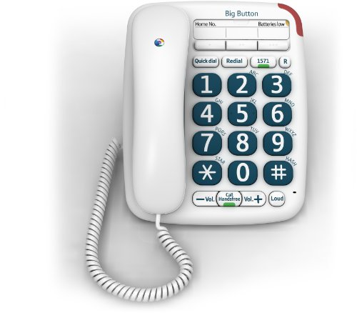 BT Big Button 200 Corded Telephone, White