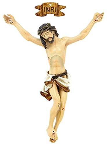 Resin Jesus Christ Corpus with INRI Plaque for Crucifix Part, 3 1/2 Inch by CB