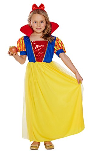 B Costumes Fancy Dress (B&S Trendz Girls Snow White Fancy Dress Costume Fairy Princess Book Week Outfit)