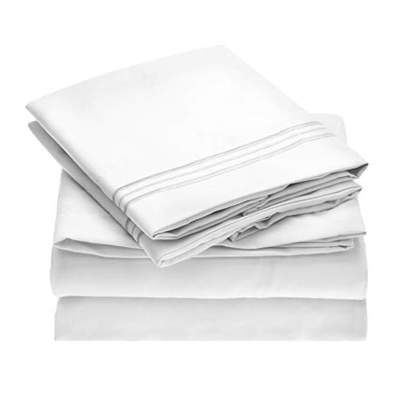 Mellanni-Bed-Sheet-Set-Brushed-Microfiber-1800-Bedding-Deep-Pocket-Wrinkle-Fade-Stain-Resistant-Hypoallergenic
