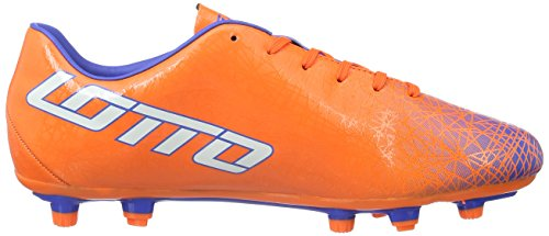 Lotto Lzg VIII 700 Fgt, Botas de Fútbol Hombre, Naranja/Blanco (Fant FL/Wht), 41 EU
