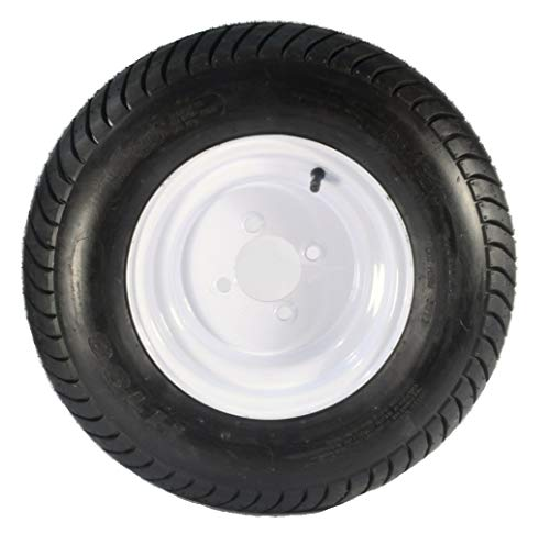 Kenda Trailer Tire/Wheel Assembly - 6-Ply Rated/Load Range C - 205/65-10 - 4 Hole Rim 3H370
