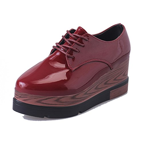 thick-soled shoes casual shoes of England/Platform shoes/Strap high heel wedges shoes thick-soled B01NAKSFT4 Parent cae004