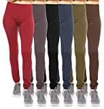 6-Pack: Women's Free to Live Seamless Fleece Lined Leggings - Assorted Colors OSFM