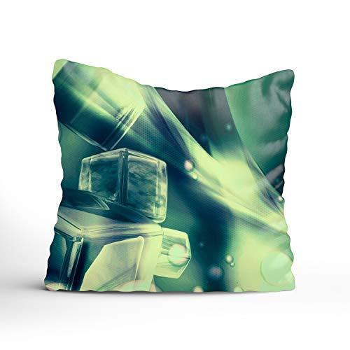 (GGRGVR Throw Pillow Case Abstract Cube Zipper Pillowslip Pillowcase for Teen Boy Girl Kid Children Bedroom)