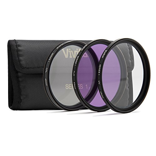 Vivitar 3-Piece Multi-Coated Glass Filter Kit (49mm UV/FLD/CPL)
