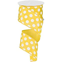 Polka Dot Wired Edge Ribbon, 10 Yards
