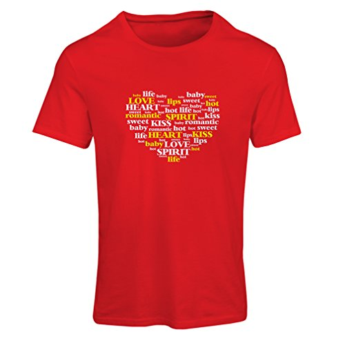 T shirts for women I love you quotes ,Valentine day gift (Large Red Multi Color)
