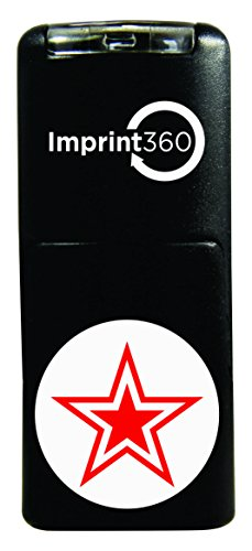(Supply360 AS-IMP2015 Round Teacher Stamp - Star, Red Ink, Durable, Light Weight Self-Inking Stamp, 5/8