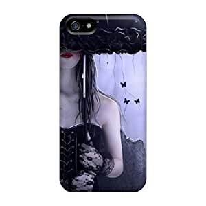 OuqgIqD1632SpjZF Case Cover, Fashionable Iphone 5/5s Case - Black Gothic Mystery