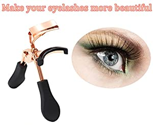 Eyelash Curler URsister, Eyelash 180 degree curled Lashes New Style (Gold)