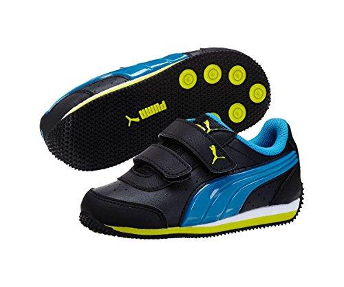 bf08b0e2bd8 Puma Kids Boy s Speed Light Up V (Toddler Little Kid Big Kid) Black Cloisonne Sulphur  Spring Sneaker 3 Little Kid M - Buy Online in Oman.