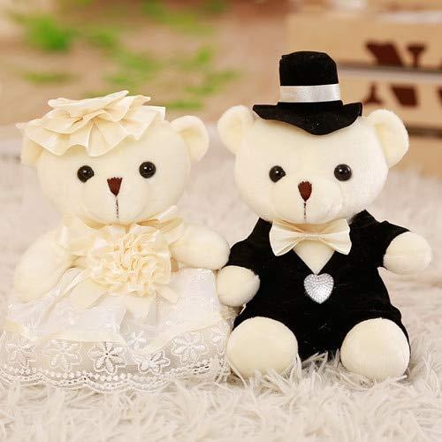 - Culturemart Babiqu 2pcs/lot 18cm Lovely Couple Bear Wedding Teddy Bear Plush Toys Wedding Gift Bride & Groom Bear Bouquet Doll Gift for Girl