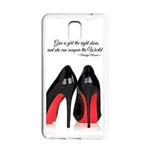 Treasure Design Funny Chic Give A Girl Shoes Marilyn Monroe Quote Samsung Galaxy Note 3 N900 Beat Rubber Cover Case