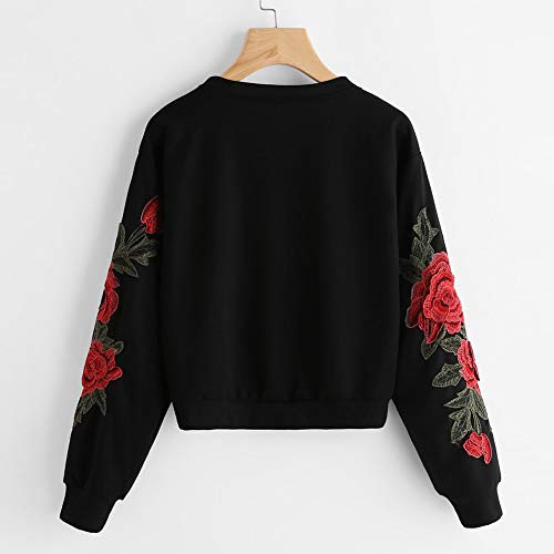 Felpa Tumblr Stampa Magliette Tumblr Pullover Rosa Ragazza Top Design Fashion Lunga Felpa Up Manica yesmile Casual Tops Felpe Lace Solid nero Donna casual 4pq0wqO