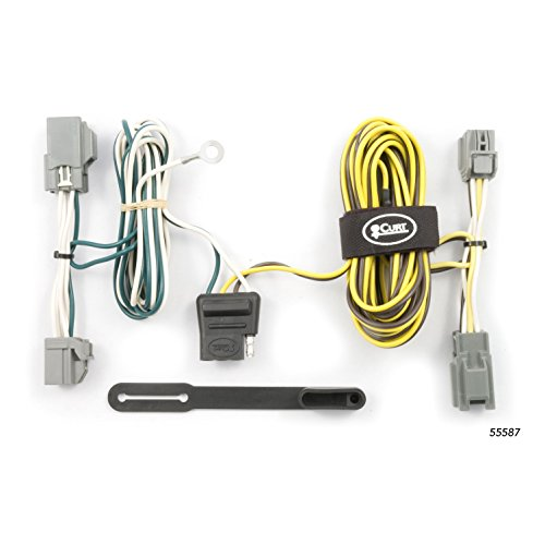 CURT 55587 Vehicle-Side Custom 4-Pin Trailer Wiring Harness for Select Ford Freestyle SUV, Ford 500 (Ford Freestyle Hitch)
