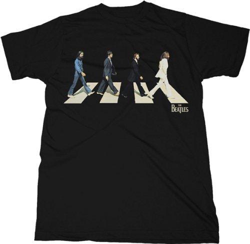 The Beatles Golden Slumbers Virtual Abbey Road Black Mens T-Shirt Tee (Adult Large)