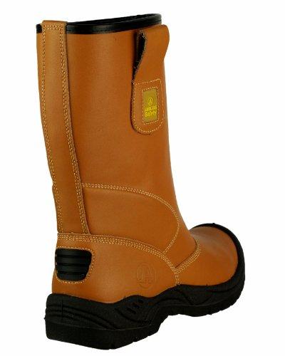 Amblers-Safety FS142 Rigger Stiefel Unisex Herren Damen Damen Stiefel Stahlkappe Tan
