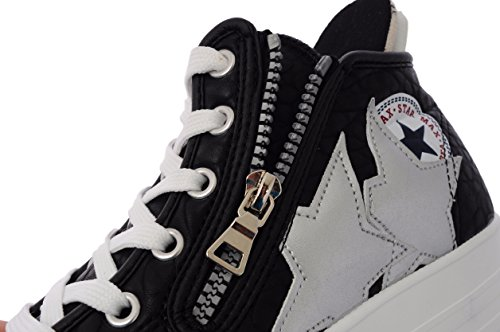 Padded Hidden Canvas Heel Lining 6Holes Platform Maxstar Women's C5 Sneakers Black wnfqp8tH