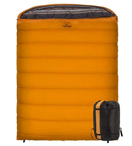 TETON Sports Mammoth 0F Queen-Size Double Sleeping Bag; Warm and Comfortable for Family - Watch Tech Dress Dual