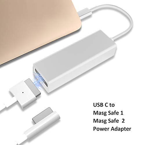 Dreamvasion USB C Adapter Compatible for MagSafe 2 & 1, Type C to Compatible MagSafe L/T-Tip Charging Converter Compatible for MacBook Pro 12