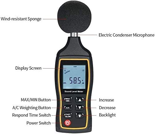 High-Precision Decibel Meter Digital Acoustic Noise Meter with Automatic Shifting Lab Instruments Portable GXT Noise Detector