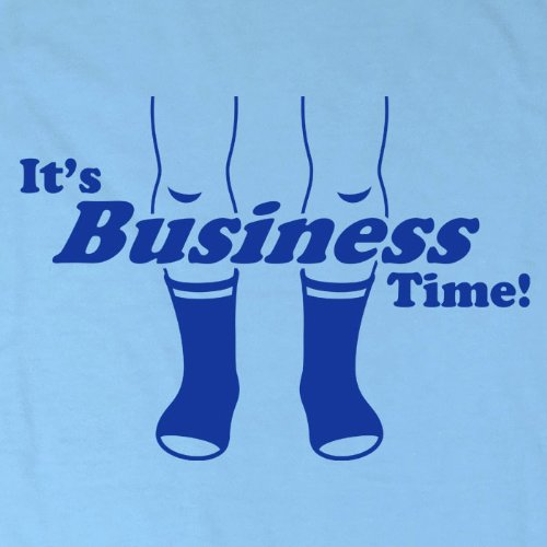 Mens Business Time T Shirt - Sky Blue - Large by Refugeek Tees (Image #2)