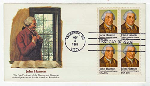 Stamp Block First Day Cover - United States John Hanson Postage Stamp (Block of Four) Original First Day Cover # 1941 w/Cachet Fleetwood