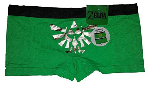 Legend of Zelda Green Seamless Boyshort Panties - - Outlet Legends At