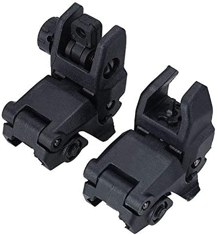 Tactical Front And Rear Folding Flip up Iron Backup Sights For Hunting Acces