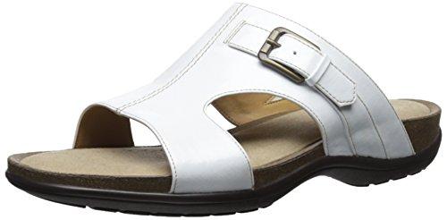 Women's Soft Spots, Caileen Slide Sandal WHITE PATENT 10 (Softspots Slip Sandals)