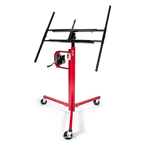 GypTool Drywall Lift Panel Jack Hoist - 11' Reach Red