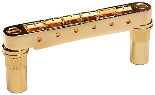 Graph Tech ResoMax NV1 Auto Lock Bridge with Metal Saddle for 6mm Posts - Gold Bridge