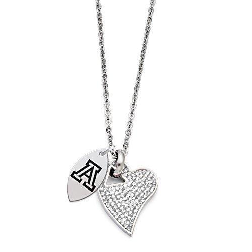 Arizona Wildcats Heart (Arizona Wildcats Crystal Heart Necklace)