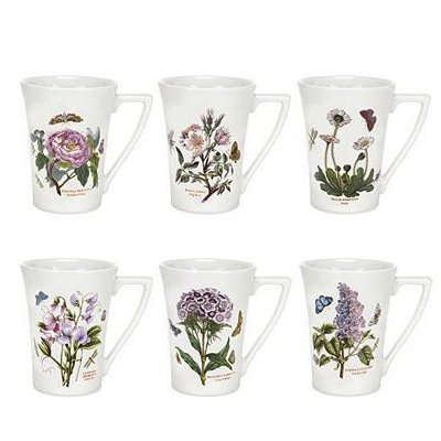 Portmeirion Botanic Garden Mandarin Mug, Set of 6 Assorted Motifs
