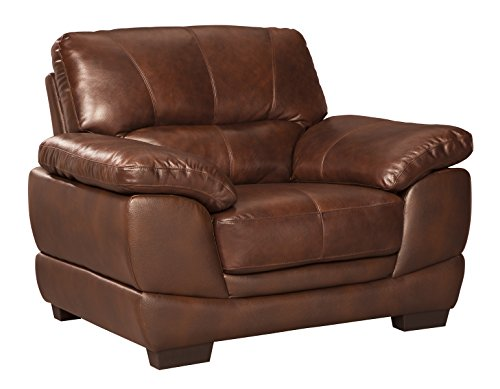 Ashley Furniture Signature Design - Fontenot Contemporary Leather Armchair - Chocolate