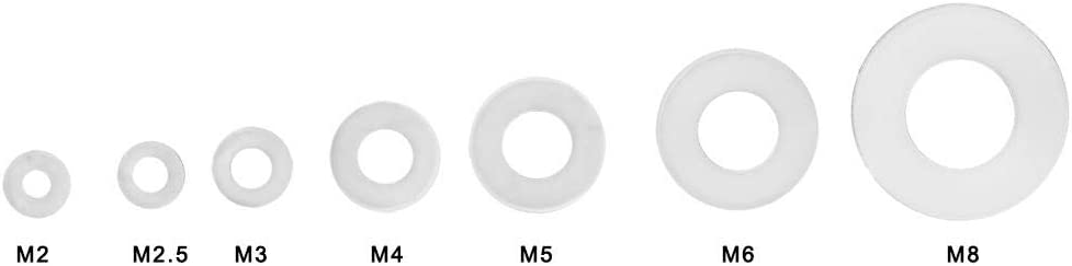 Flat Gasket Ring Kit White Nylon Spacer Nylon Flat Washer resistant corrosion buffers for plumbing applications