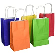 Darice Paper Bags, 3.25 by 5.25 by 8.375-Inch, Assorted Primary, 13-Pack