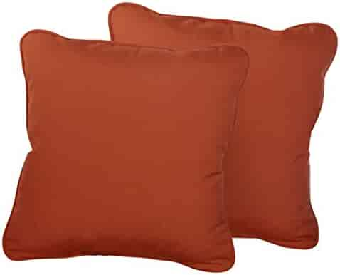 Peach Cream White Coral Orange RSH DECOR Set of 2 in Outdoor 17 Square Decorative Throw Pillows ~ Blue Red ~ Ocean Life ~ Coastal ~ Coral Reef