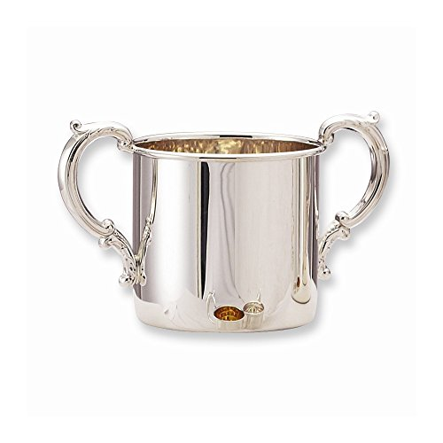 Best Designer Jewelry Sterling Silver Double Hollow Handles Baby Cup