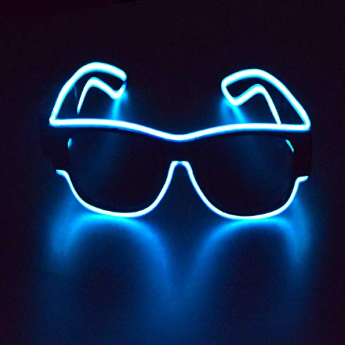 Visions Mens Club Halloween Party (M.best LED Light Up EL Wire Neon Glasses Glow in The Dark LED Sunglasses Costumes for Halloween,Christmas,Wedding, EDM, Rave, Club, Bar, Dance, Party)