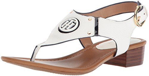 navy Sandal Kissi White Women''s Hilfiger Heeled Tommy HxfwRqZ1