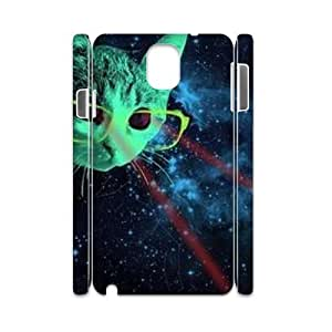 Galaxy Hipster Cat Customized 3D Cover Case for Samsung Galaxy Note 3 N9000,custom phone case ygtg551684